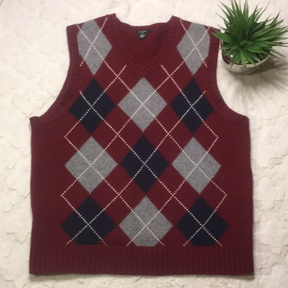 84f0be68603 EUC J Crew Men's Argyle Sweater Vest, L